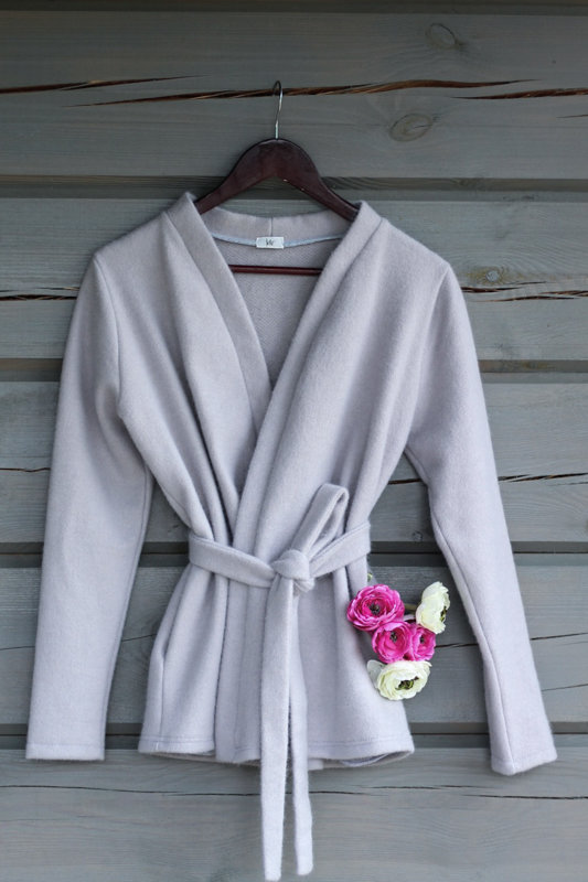 Wrap Coat- gray