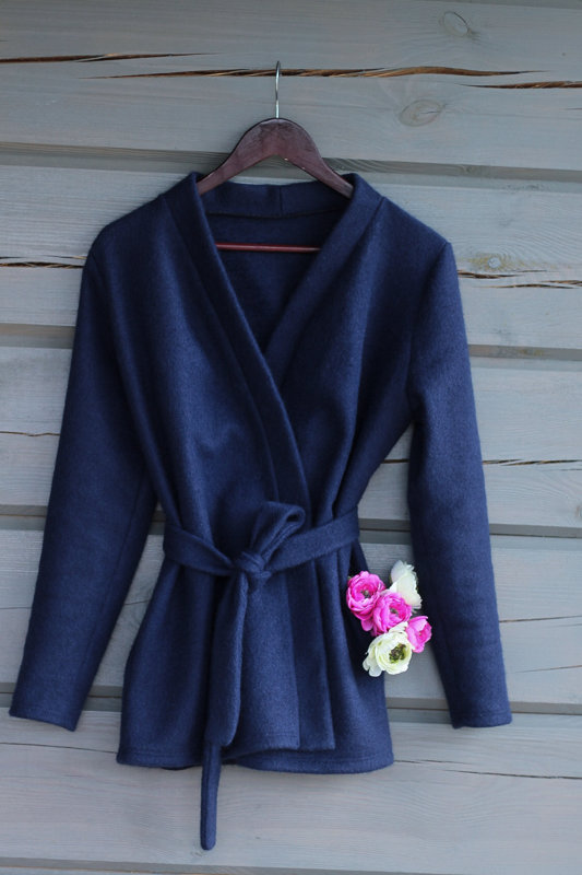 Wrap Coat- dark blue